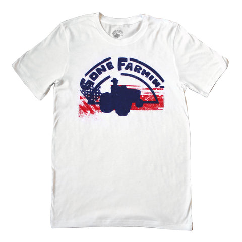Gone Farmin' Red, White and Blue Men's T-shirt