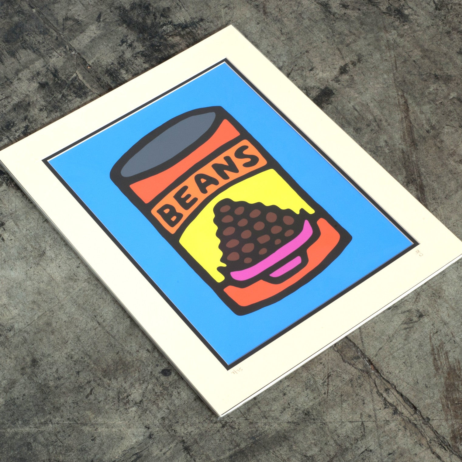 Print On Photo Paper - 16x20 inches - Beans (Blue)