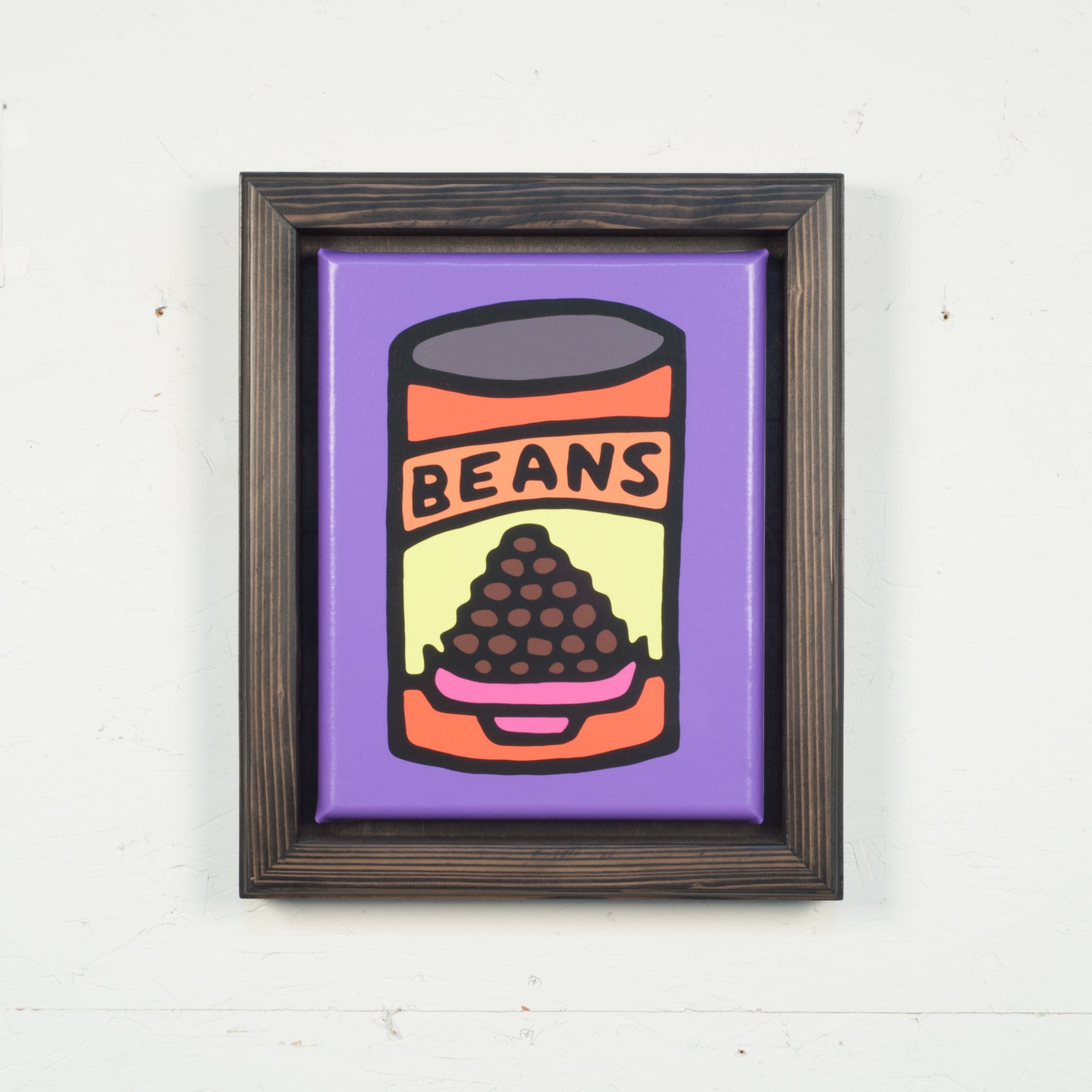 Print On Canvas - Beans (Purple) - 11x14 inches