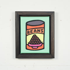 Print On Canvas - Beans (Green) - 11x14 inches