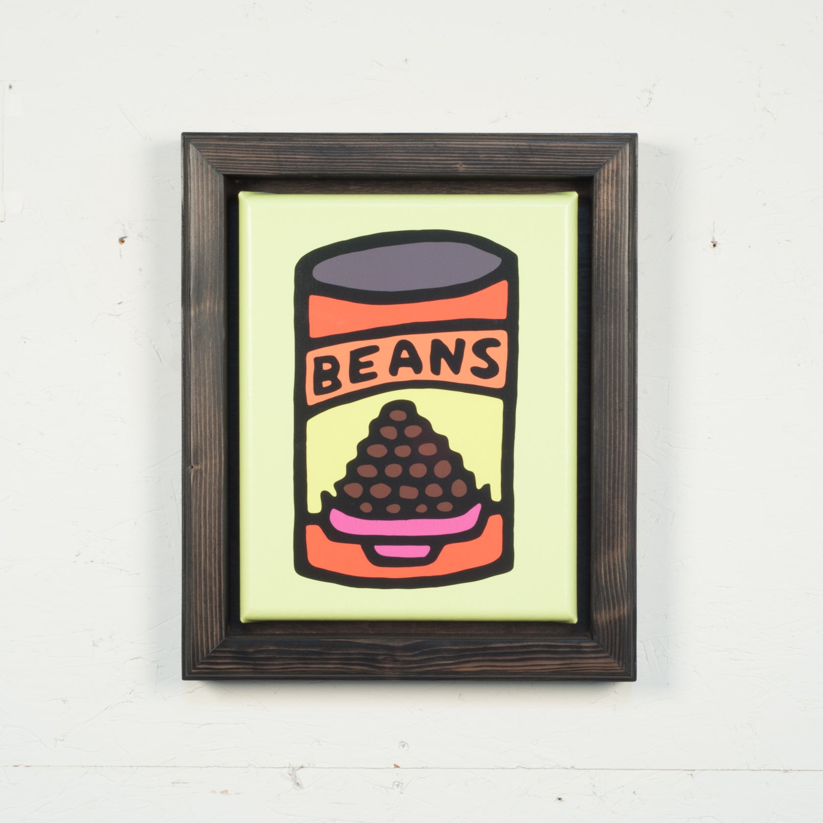 Print On Canvas - Beans (Yellow) - 11x14 inches