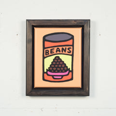 Print On Canvas - Beans (Orange) - 11x14 inches