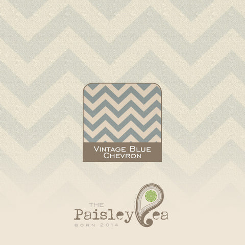 Vintage Blue Chevron