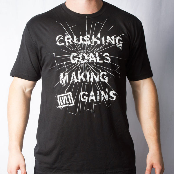 Crushing Goals & Making Gains T-Shirt - LVL1 LIFE  - 2