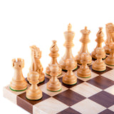 Walnut & Maple Chess Set - Board & Pieces