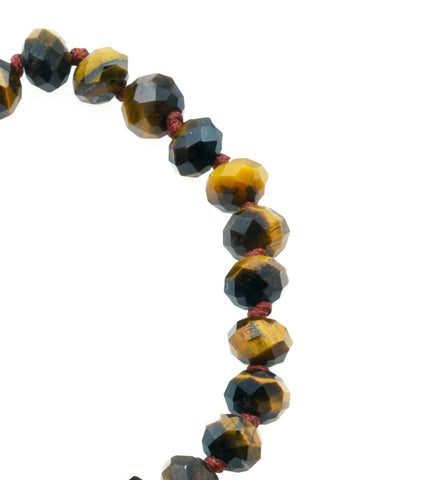 Joseph Brook Gold Tiger Eye Bracelet