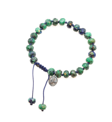 Joseph Brooks Faceted Azurite Malachite Bracelet