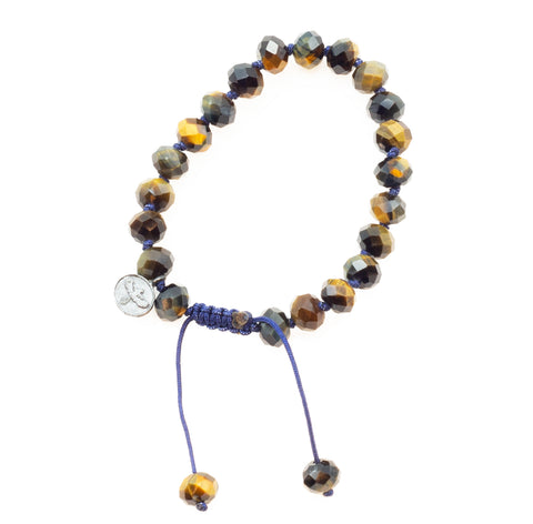 Joseph Brooks Blue Tiger Eye Bracelet