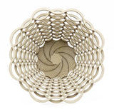 Basket Laser-Cut Large Bowl