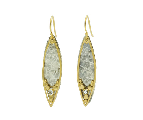 Austin Titus Two Tone Leaf Earrings