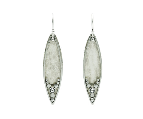 Austin Titus Silver Leaf Earrings