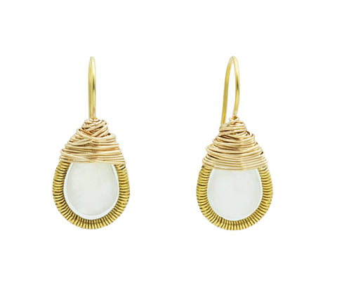 Austin Titus Wrapped Moonstone Teardrop Earrings