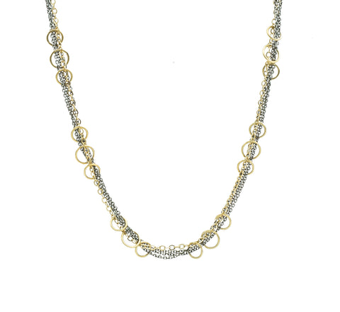 Austin Titus Multi Tone Chain & Ring Necklace