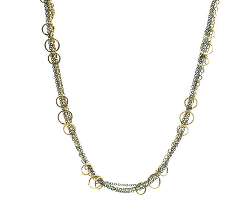 Austin Titus XL Multi Tone Chain & Ring Necklace