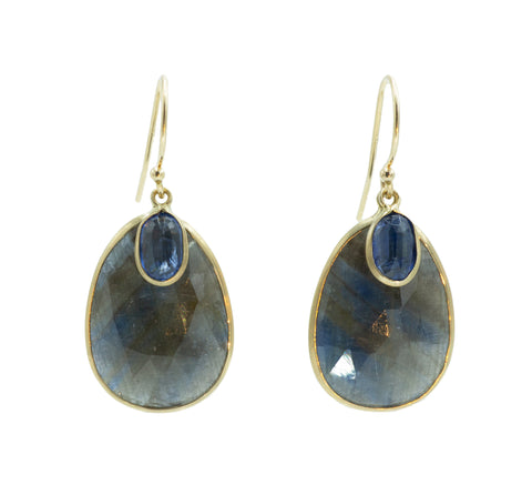 Margaret Solow Kyanite & Blue Sapphire Earrings