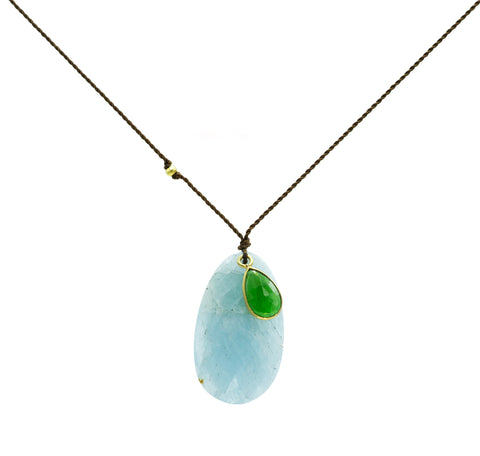 Margaret Solow Amazonite & Chrome Diopside Necklace