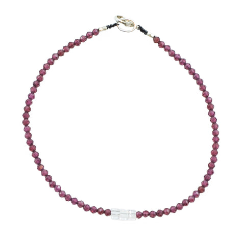 Margaret Solow Garnet & Morganite Bracelet
