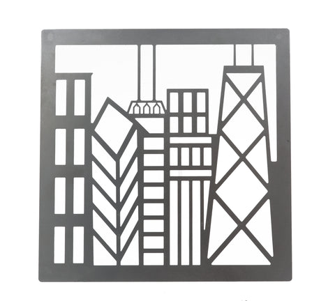 Stainless Steel Chicago Skyline Trivet
