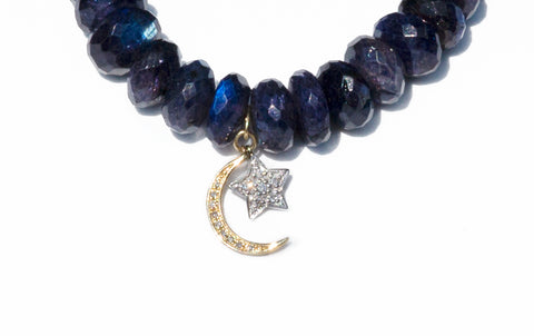 Sydney Evan Moon & Star Beaded Bracelet