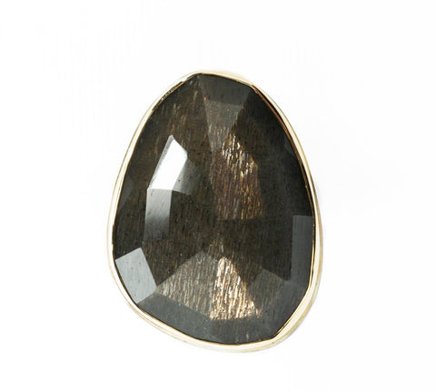 Jamie Joseph Dark Grey Moonstone Ring