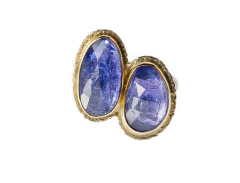 Jamie Joseph Double Tanzanite Ring