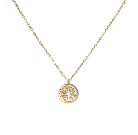 Victoria Cunningham 14K Tree of Life Necklace