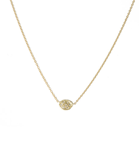 Victoria Cunningham 14K Pave Flake Necklace