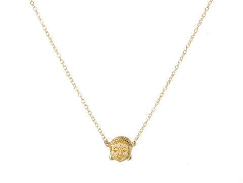 Victoria Cunningham 14K Buddha Head Necklace