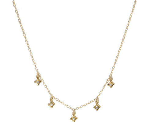Victoria Cunningham Quatrefoil Drop Necklace