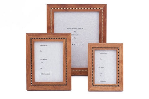 Cherry Marquetry Picture Frames