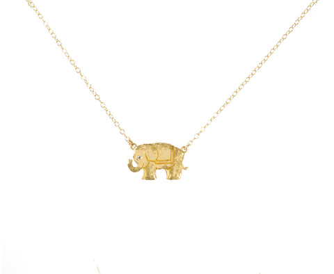 Victoria Cunningham 14K Elephant Necklace