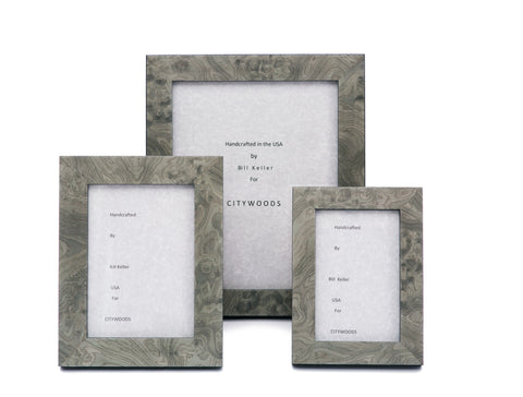 Grey Burl Picture Frames