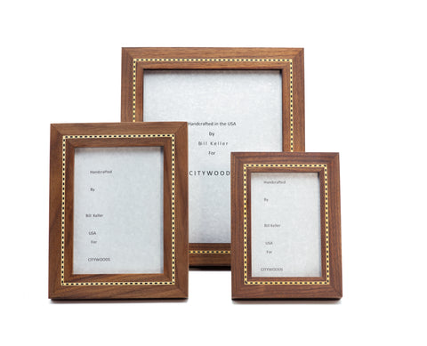 Walnut Marquetry Picture Frames