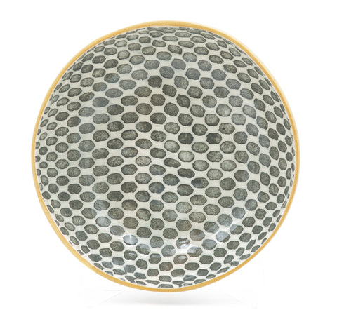 Serving Bowl in Charcoal Dot