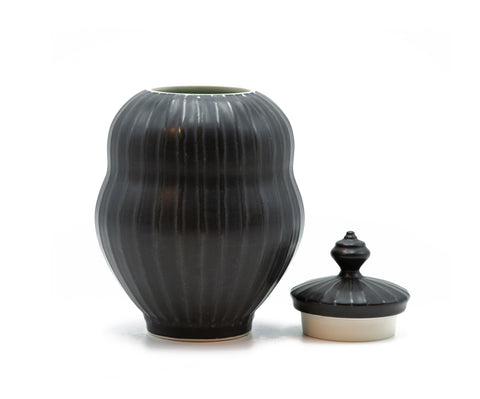Ryan Greenheck Small Black Stripe Jar