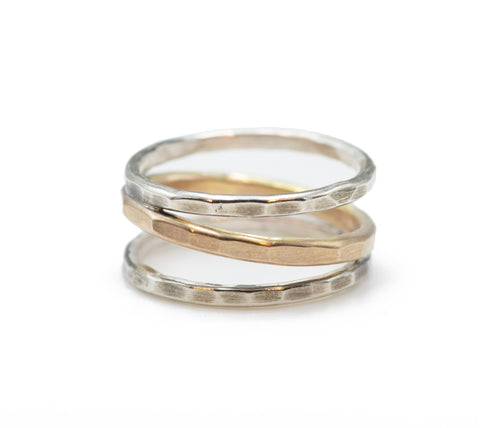 J & I Two-Tone Entwined Ring