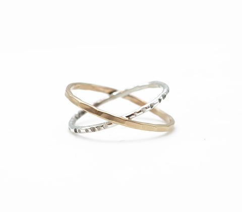 J&I  Crisscross Ring