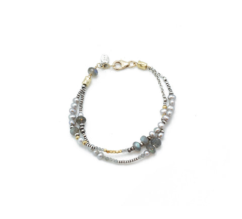 J&I Double Strand Bracelet with the Greys