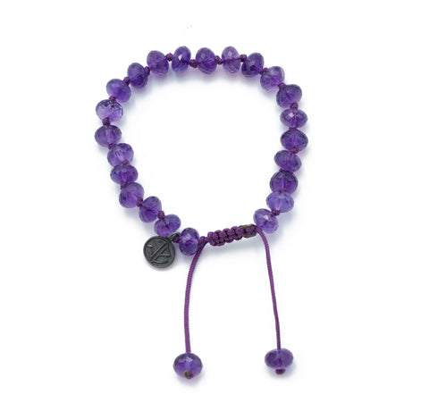 Joseph Brooks Faceted Amethyst Bracelet