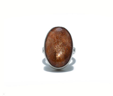 Jodi Rae XL Sunstone Cabochon Ring