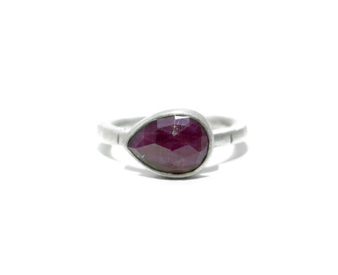 Jodi Rae East-West Ruby Teardrop Ring