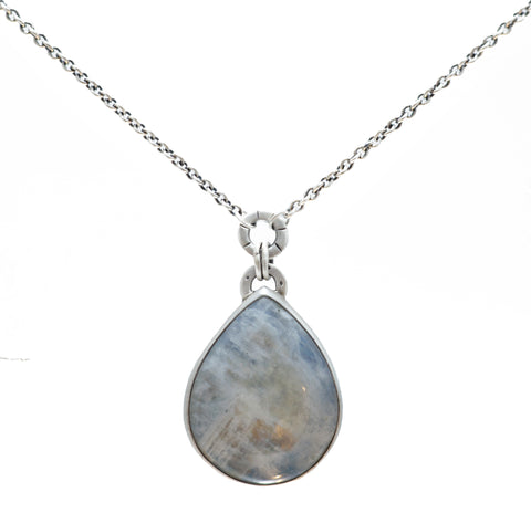 Jodi Rae *One of a Kind* Rainbow Moonstone Teardrop Necklace