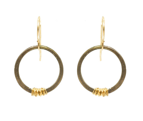 J&I Mini Ox with Gold Wrap Hoops