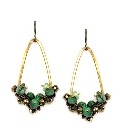 Calliope Emerald & Pyrite Earrings