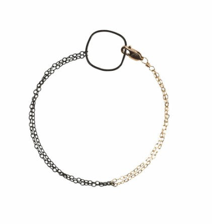 Colleen Mauer Black & Gold Bracelet