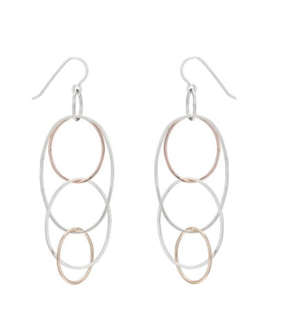 Colleen Mauer Long Organic Multi Hoop Earrings