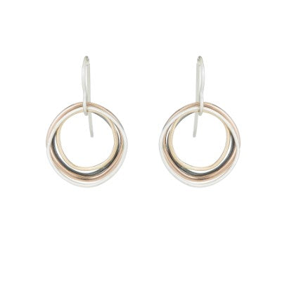 Colleen Mauer Four Color Multi-Square Hoop Earrings