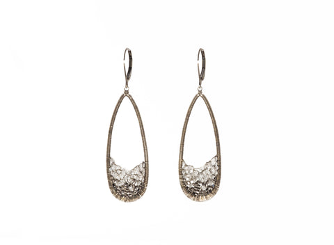 Dana Kellin Silver Ombre Open Teardrop Earrings