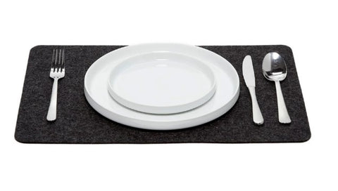 Merino Wool Felt Placemat in Charcoal