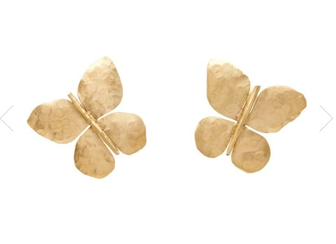 Julie Cohn Bronze Butterfly Earrings